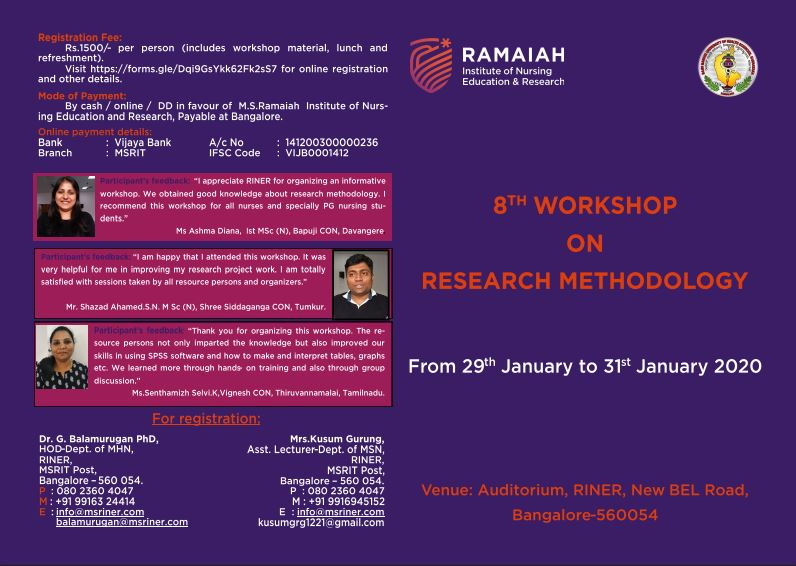 8th Workshop on Research Methodology
